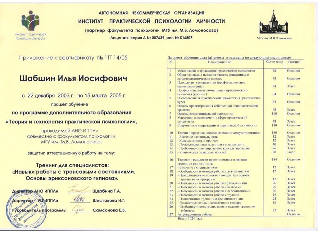 Психолог Илья Шабшин